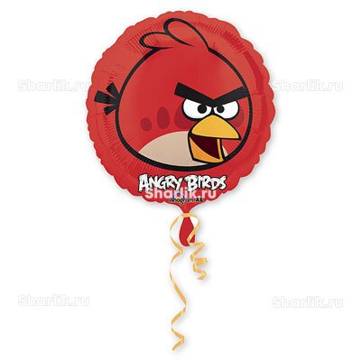 Шарик-круг Красная птица Angry Birds