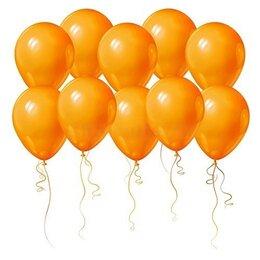 Красивые оранжевые шары в подарок ко Дню Рождения