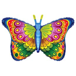 Фигурный шар радужная бабочка