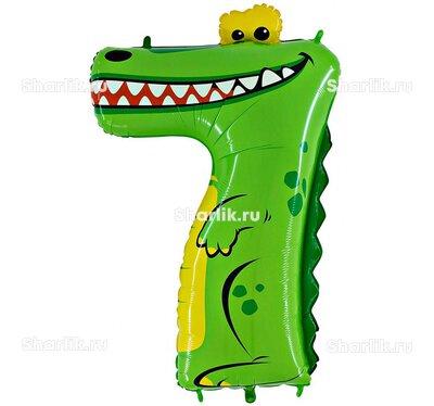 Шар-цифра 7 - Крокодильчик