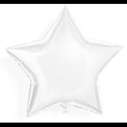 Гелиевый шар на девичник - звезда (Белая)