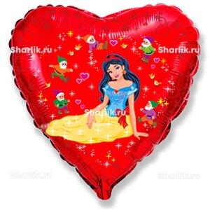 Шарик-сердце Белоснежка и семь Гномов