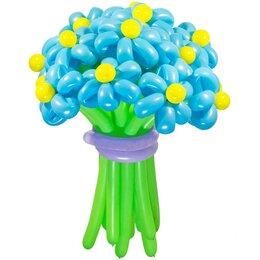 Цветы из шаров, голубые (1 цветок)