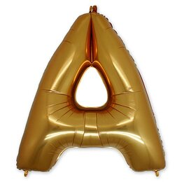 Шарик-буква А, золотая