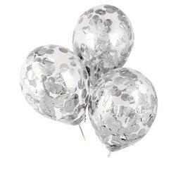 Шары с серебряным конфетти