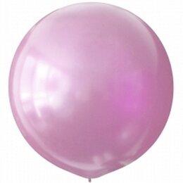 Розовый надувной шар большого размера (металлик)