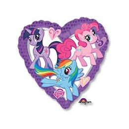 Шарик-сердце с героями Мой маленький пони