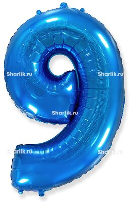 Шар-цифра 9, Синий