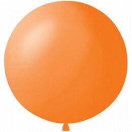 Оранжевый надувной шар большого диаметра