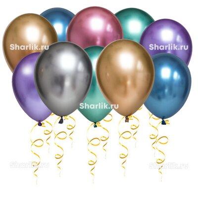 Разноцветные шары хром