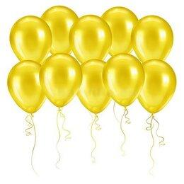 Жёлтые шары (металлик) на День Рождения