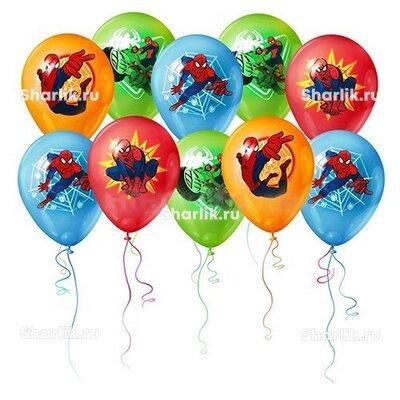 Шары разноцветные Человек-паук