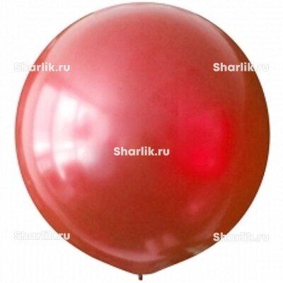 Красный большой шар (металлик)