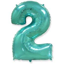 """Надувной шарик-цифра """"2"""" (Тиффани)"""