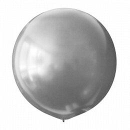 Серебряный большой воздушный шар (металлик)м