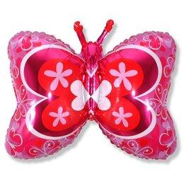 Фигурный шар розовая бабочка