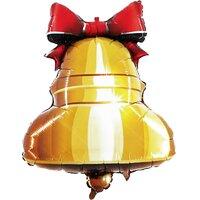 Фигурный шар Школьный колокольчик с красной ленточкой