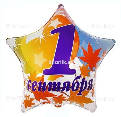 Шарик-звезда на 1 сентября в кленовых листах