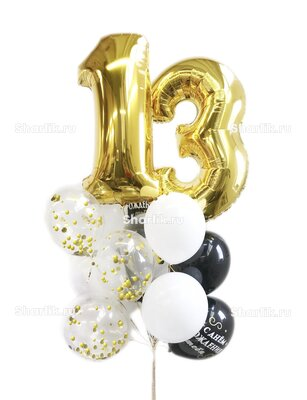 Букет шаров с цифрами на день рождения