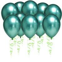 Зеленые шары хром