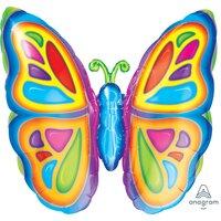 Фигурный шар яркая бабочка