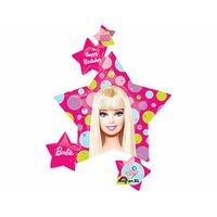 Фигурный шар Барби со звездами