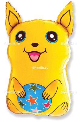 Фигурный шар желтый Покемон с мячом