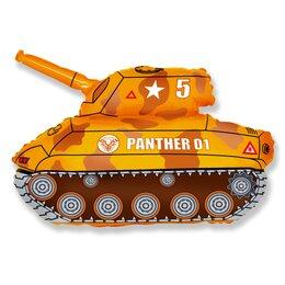 Фигурный шар коричневый танк