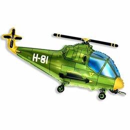 Фигурный шар вертолет зеленый