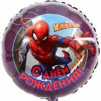 Шарик-круг С Днем Рождения (Человек-Паук)