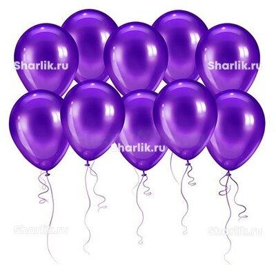Тёмно-фиолетовые шары (металлик)