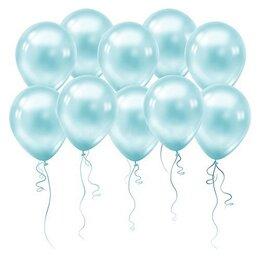 Голубые шары (металлик)