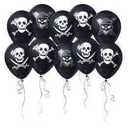 Шары чёрные в пиратском стиле