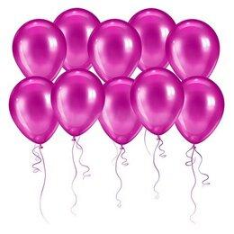 Розовые шары (металлик)