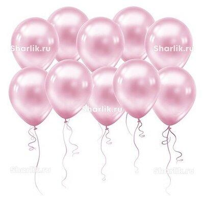 Нежно-розовые шары (металлик)