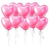 Розовые шары в форме сердца (40 см)