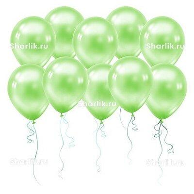 Светло-зелёные шары (металлик)