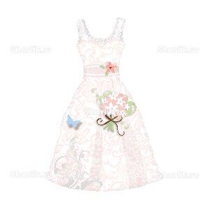 Фигурный шар Свадебное платье розовое