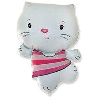 Фигурный шарик Котёнок белый