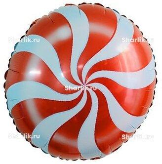 Шарик-круг Леденец красный