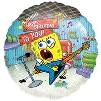 Шарик-круг С днём рождения (Губка Боб)
