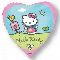 Шарик-сердце Hello Kitty