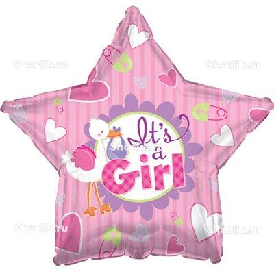 Шарик-звезда Аист принёс девочку
