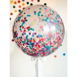 Метровый шар с разноцветным конфетти (91 см)