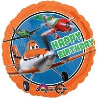 Шарик-круг Самолеты С Днем Рождения