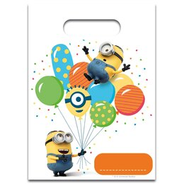 Пакет подарочный Миньоны с шариками, 6 шт