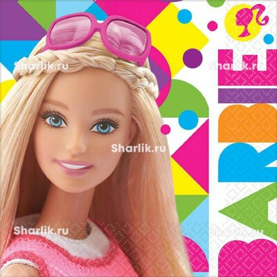 Салфетки с Барби в очках