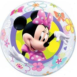 Шар Bubble Минни Маус с бантиком