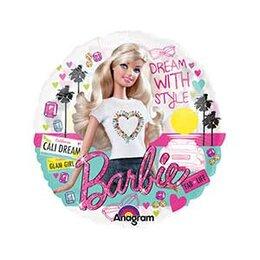 Шарик-круг прозрачный с Барби