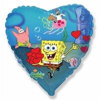 Шарик-сердце Спанч Боб с сердечками